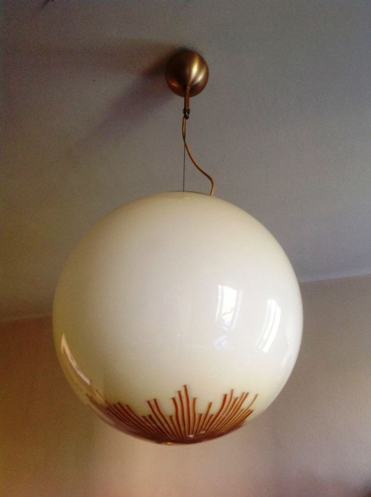 Moioli Gallery - 1970\'s Large Glass Ball Pendant by La Murrina